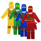 Boys Kids Ninjago Costume Jumpsuit Fancy Party Halloween dress Clothes Sets UK