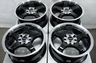 15 Wheels Integra Cobalt Civic Accord Miata Cooper Yaris Echo Corolla Black Rim