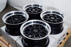 15x8 Wheels Honda Civic Mx 5 Miata Camry Celica Corolla Black Rims 5x100 5x1143