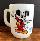 Anchor Hocking Milk Glass MICKEY MOUSE TODAY 1980 Pepsi mug Fire King
