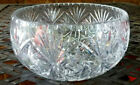 SERVING BOWL CRYSTAL LEAD CUT GLASS STAR OF DAVID STARBURST LARGE
