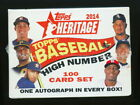 2014 TOPPS HERITAGE HIGH NUMBER SEALED FACTORY BOX SET auto