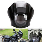 Headlight Quarter Fairing Clear Windshield For Sportster XL883 1200 Dyna Black
