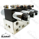 Electronic Hydraulic Double Acting Directional Control Valve 3 Spool 25 GPM