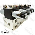 Electronic Hydraulic Double Acting Directional Control Valve 4 Spool 25 GPM