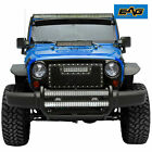 EAG Fits 07 18 Jeep Wrangler JK Double 30 inch LED Bull Bar Bumper Grill Guard