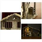 Three Kings Gifts Christmas Nativity Lighted Stable Manger for 14 inch Scale Set