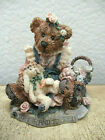 Boyds Bears Figurine Easter Bearstone Collectible Figure Bear with Easter Bunny
