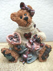 Boyds Bears Figurine Valentines Day Gift Bearstone Collectible Figure Bailey