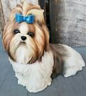 Danbury Mint SHIH TZU Dog Figurine Large Realistic Life Like Adorable