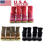 4Pcs Small Pet Dog Shoes Puppy Anti slip Winter Warm Snow Boots Booties US