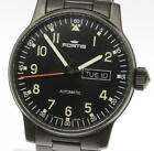 FORTIS Flieger Day Date 595.18.158.1 Automatic Men's Watch black Stainless steel