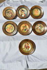 Vintage ANRI Hand Carved Christmas Plates Wall Hanging Collector Lot of 7 Schmid