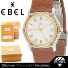 Ebel Sport Classic Date Stainless & 18k Gold Bezel 34.5mm Watch BOX & PAPERS