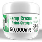50,000mg Hemp Oil Extra-Strength Pain Cream with Peppermint and Menthol (4oz)