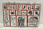 Inkadinkado HAUNTED HOUSE Halloween Witch Thanksgiving Foam Rubber Stamps