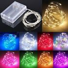 20 50 100 LEDs Battery Operated Mini LED Copper Wire String Fairy Lights 10M