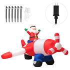 8Ft LED Inflatable Christmas Santa Claus Flying Airplane Blow Up Yard Play