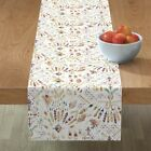 Table Runner Tribal Ikat Watercolor Bohemian Feather Native Ethnic Cotton Sateen