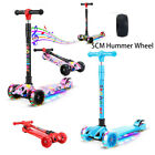 LED Scooter for Kids Deluxe 3 Wheel Glider with Kick n Go Lean 2 Turn 3 colors