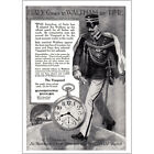 1917 Waltham Watch Italy Comes to Waltham for Time Vanguard Vintage Print Ad