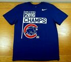 CHICAGO CUBS 2016 World Series Champions NIKE Athletic Cut T-Shirt L Men's Large