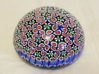 Millefiori Paperweight Smaller Size Blue red green collectible glass