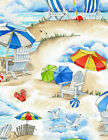 Beach C6533 Sand Beach Vacation TimelessTreasures 100 Cotton Fabric by the Yard
