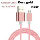 18 1M Braided Micro USB Data Snyc Fast Charger Charging Cable For Android NEW