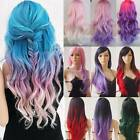 Hot Sale Pastel Pink Purple Extra Long Thick Hair Wig Wigs For Woman Female g51