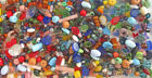 Huge Heavy Lot 600 Oval Glass Beads 15 lbs All Ethnicities Ages 6mm 35mm