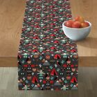 Table Runner Indian Teepee Totem Western Native Amarican Cactus Cotton Sateen