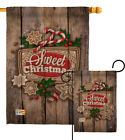 Winter Sweet Wish you Merry Christmas Noel Xmas Nativity Garden Yard House Flag