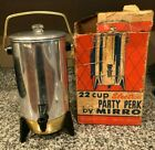 Vintage Mid Century Mirro Party Perk 22 Cup Electric Coffee Percolator Tested