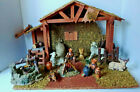VTG Grandeur Noel 17 piece Porcelain Nativity Accessories Set with Wood Creche