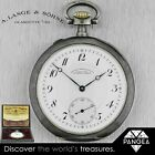 Antique A. Lange & Sohne Glashutte 76303 Silver Pocket Watch Box & Papers 52mm