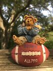 Vintage RETIRED Knute Football BOYDS BEAR Christmas Ornament ORIGINAL BOX ❤️J8