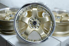 17 Wheels Pontiac Fiero Grand Am Sunfire Vibe Mazda3 Civic Accord Gold Rims 4