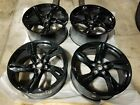 4 Chevrolet Camaro SS BLACK Wheels Rims 20x85 20x95 SET OF 4 Staggered