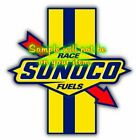 Sunoco Fuel Racing Gasoline Racing Stripe Contour Cut Vinyl Decals Stickers Gas