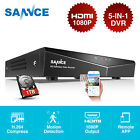 SANNCE 4CH 1080N DVR with 1TB HDD Recorder Video Home Surveillance for AHD Cams