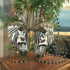 Slavic Treasures Retired Glass Ornament Large Zebra 1999