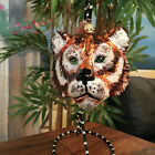 Slavic Treasures Retired Glass Ornament Large Tigress 1999
