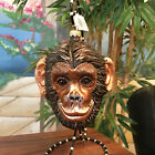 Slavic Treasures Retired Glass Ornament Large Chimpanzee 1999