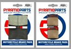 Front & Rear Brake Pads for Sachs X-Road 125 2007