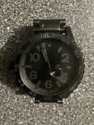 Nixon 51-30 Men's Tide Watch All Black Used Great Condition