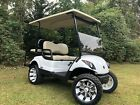2016 Yamaha G29 Fuel Injected EFI GAS Golf Cart White 4 seater 14 wheels lifted