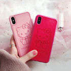 For New iPhone 11 Pro Max Emboss Cute Hello Kitty Leather Soft Slim 3D Case