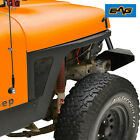 EAG Front Fender with LED Eagle Lights Black Textured Fit 87 96 Jeep Wrangler YJ