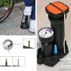 Motorcycle Bike Air Pump Wheel Tyre Tire Portable Pedal Inflator Inflating Tool